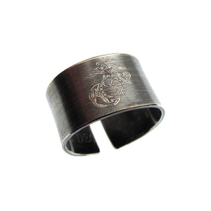 Personalized USMC Ring