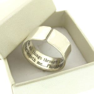 Sterling Silver Flat Profile Ring