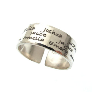Engraved Band Ring - Statement Ring