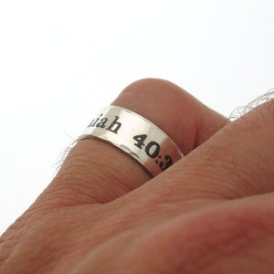 Isaiah 40:31 Personalized Sterling Silver Ring