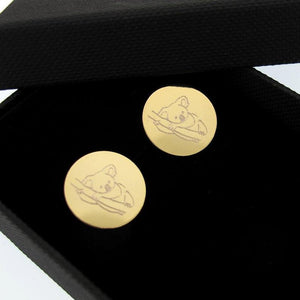 Personalized Cufflinks - Wedding Gold cuff links