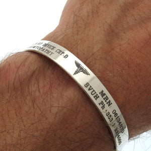Caduceus Medical ID Bracelet for Men