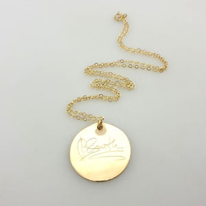 Handwritten Message Necklace - Signature Necklace