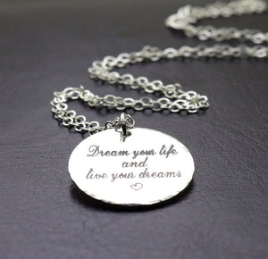 Inspirational Quote Pendant Necklace