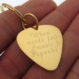 Gold Guitar Pick - Musician Personalized Gift