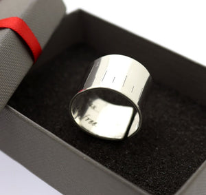 Men's Wide Ring - Custom Message Gift