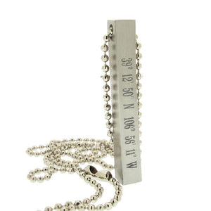 Stainless Steel Pendant - Concrete Necklace for men