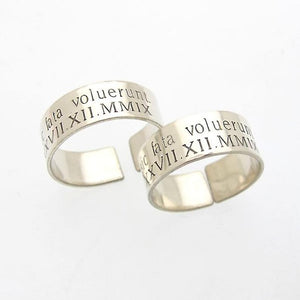 Engraved Mens Ring in Sterling Silver