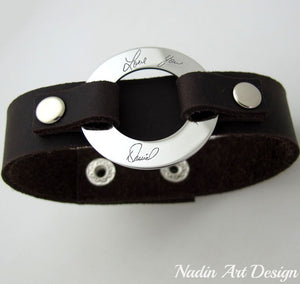Handwriting engraved custom bracelet
