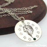 Leo zodiac sign birthday gift necklace