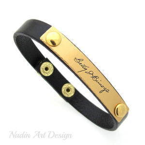 Engraved Signature Bracelet - Present for Men