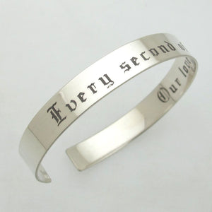 Engraved Mens Cuff - Custom Mens Jewelry