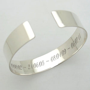 Silver Bracelet with Quote for Men