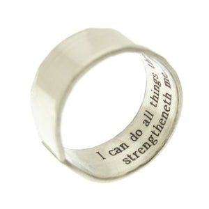 Roman Numeral Band Ring for men