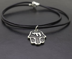Protection spiritual Hamsa necklace for men