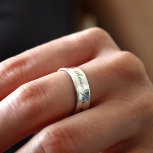 Poesie ring - Women's Birthday Gift - Message ring in Sterling silver 925