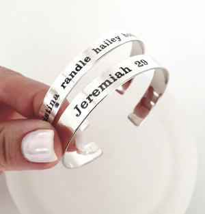 Bible Verse Engraved Bracelet