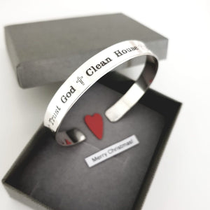 Trust God Personalized Sterling Silver Bracelet