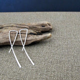 Simple Sterling Silver Fashion Earrings