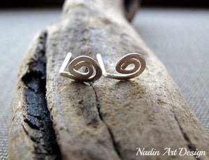 Mini Swirl Sterling Silver Earrings