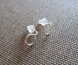 Sterling Silver Round Tiny Studs