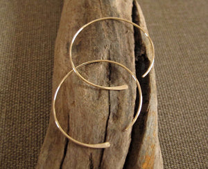 open hoops earrings in gold filled - lightweight hoops