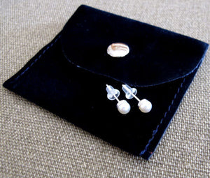 Stud Earrings with Pearls - Wedding Earrings