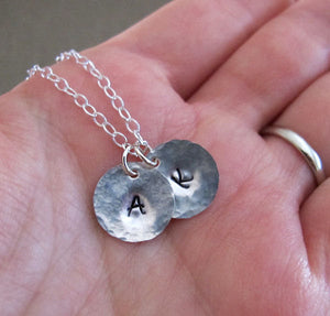 Initial Charms Sterling Silver Necklace