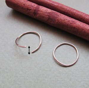 Sterling Silver Cartilage Hoop Earrings