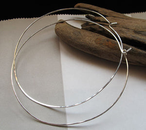 3 inch Sterling Silver hoops - XL Hoops