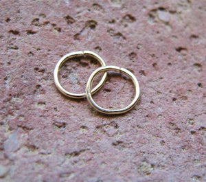 Cartilage Gold Filled Hoop Earrings - Helix / Tragus / Nose ring