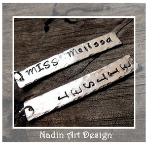 Name Engraved Rectangle Pendant