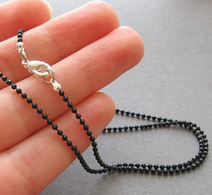 Black Ball Chain Necklace