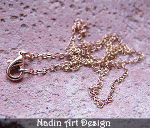 Copper Chain Necklace with Lobster Clasp
