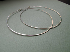 Thin Lightweight Gold Filled Hoop Earrings