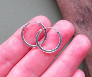 Tube Silver Earrings for Men