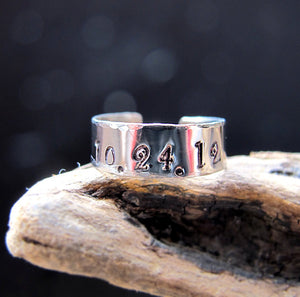 Engraved Name / Date / Initial Ring