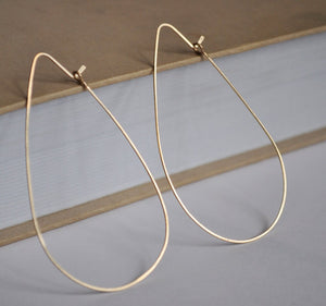 Teardrop Gold Hoop Earrings