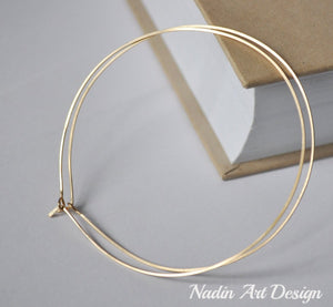 Handmade Gold Filled Hoop Earrings 14K