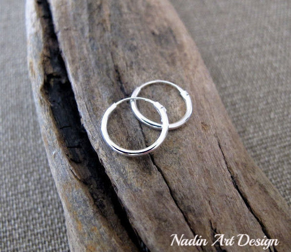 Sterling Silver Rounded Hoops - Small Earrings