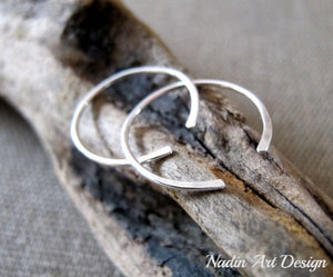 Elegant Hammered Hoop Earrings