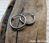Dark Silver Hoops for Men