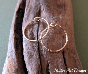 Small Gold Everyday Hoop Earrings