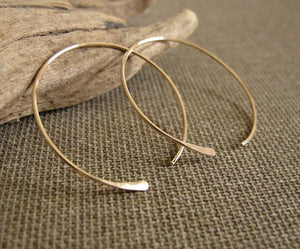 lightweight hoop earrings in gold filled
