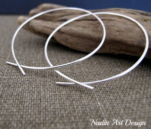 Omega Sterling Silver Hoop Earrings