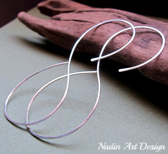 Silver infinity earrings