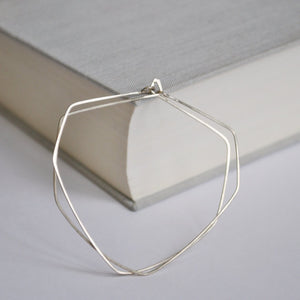 Diamond Geometric Hoops - Sterling Silver Jewelry