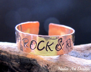Name wide copper ring
