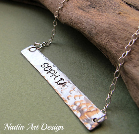 name pendant necklace