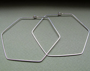 Hexagon Geometric Hoops